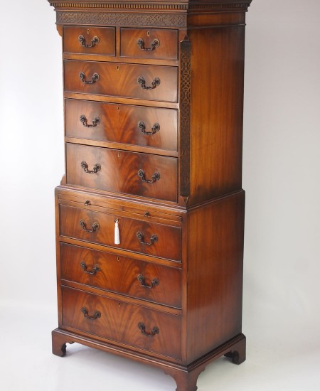 Mahogany Chest on Chest Tallboy