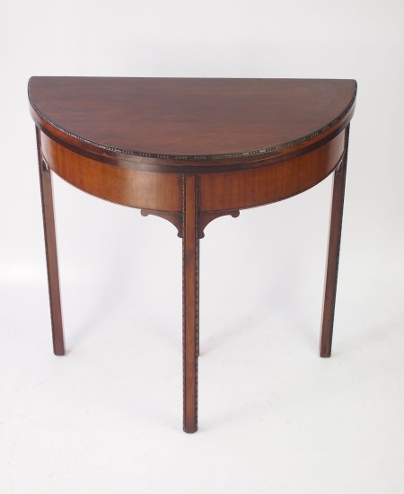 Edwardian Demi Lune Card Table