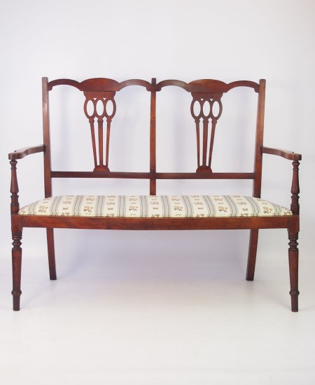 Edwardian Two Seater Parlour Settee