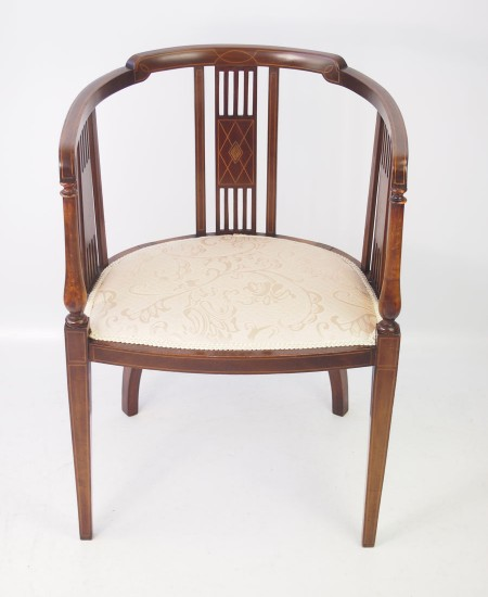 Edwardian Inlaid Tub Chair