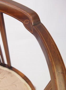 Edwardian Inlaid Tub Chair