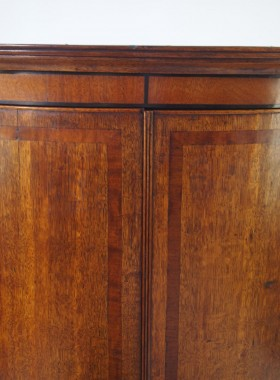 Georgian Bow Fronted Corner Cupboard