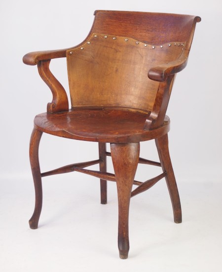 Victorian Oak Captains Chair