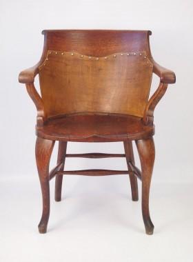 Victorian Oak Captains Chair