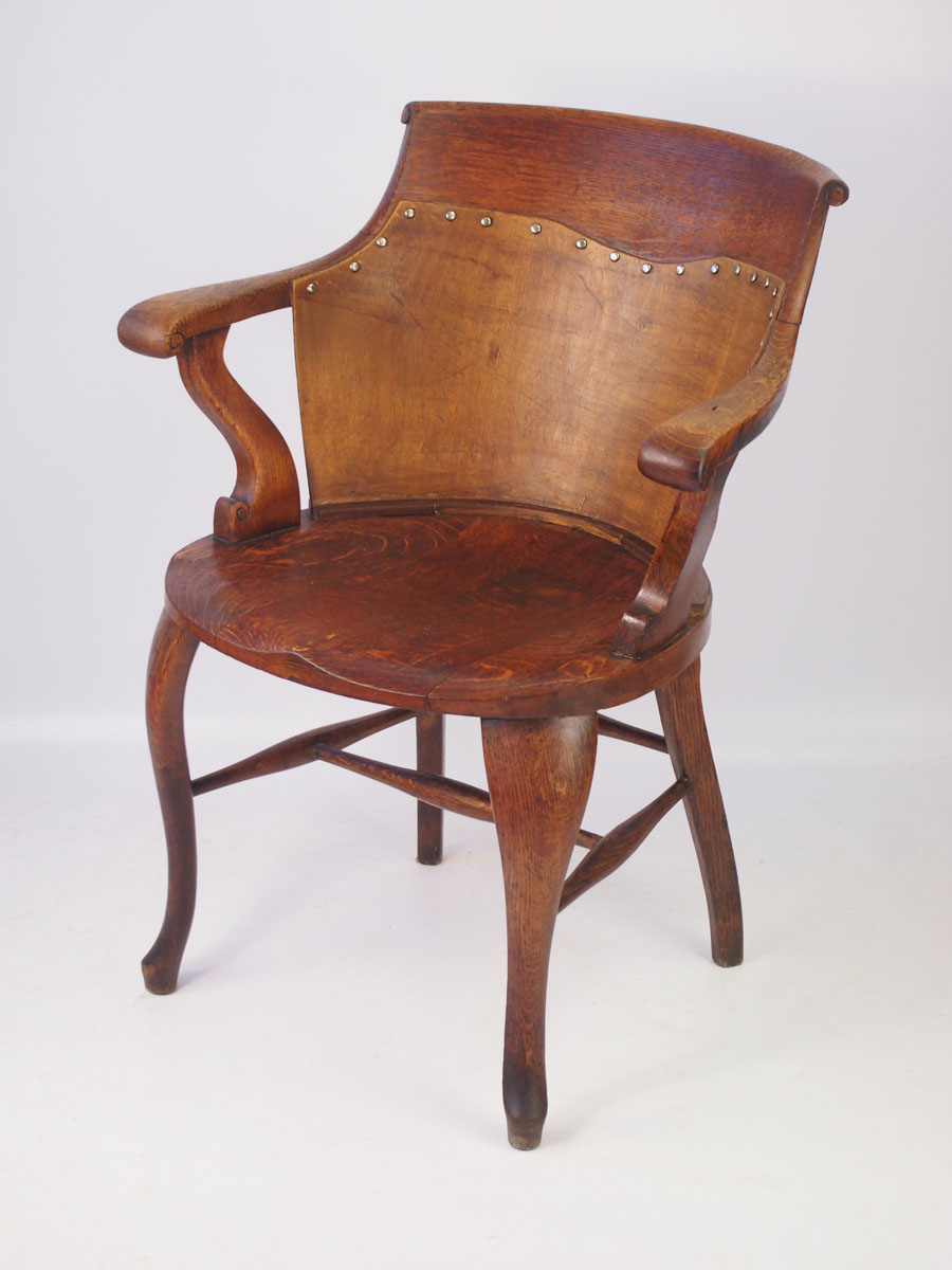 Charmant Victorian Oak Captains Chair Victorian Oak Captains Chair ...