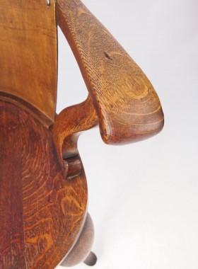 Victorian Oak Captains Chairs