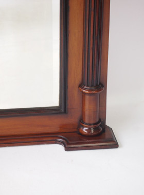 Edwardian Mahogany Overmantle Mirror