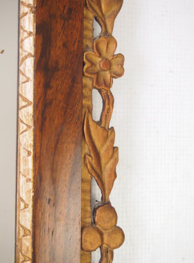 Antique Fretwork Mirror