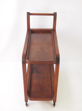 Art Deco Teak Trolley