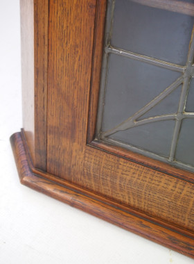 Arts Crafts Oak Corner Cupboard