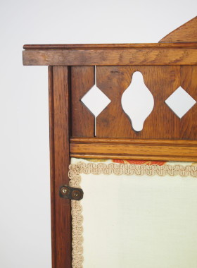 Arts Crafts Oak Fire Screen