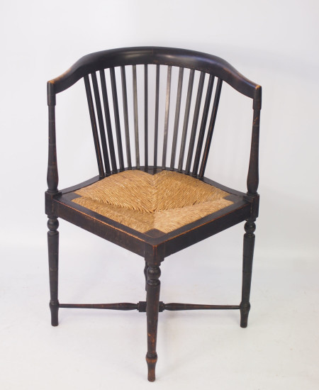 Ebonised Arts Crafts Corner Chair