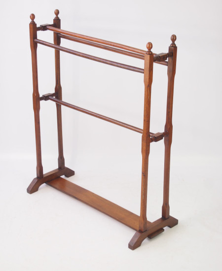 Edwardian Walnut Towel Rail