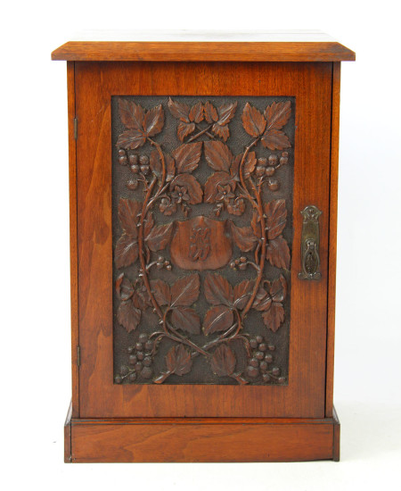 Antique Arts Crafts Walnut Cabinet