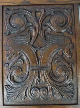 Edwardian Oak Firescreen