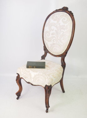 Victorian Walnut Armchair