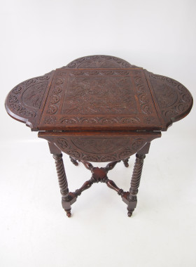 Victorian Carved Oak Table