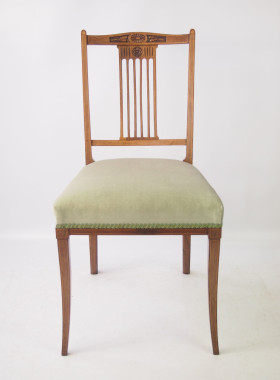 Pair Edwardian Rosewood Chairs