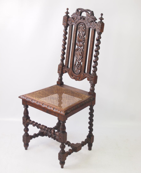 Victorian Gothic Oak Chair