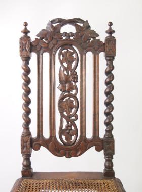 Victorian Gothic Oak Chair