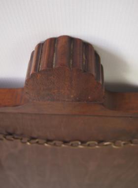 Vintage Walnut Shell Carved Mirror