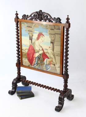 Large Victorian Rosewood Fire Screen