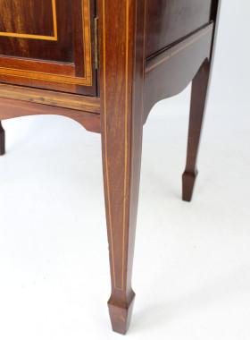 Edwardian Mahogany & Inlaid Music Cabinet