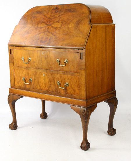 Small Art Deco Walnut Bureau