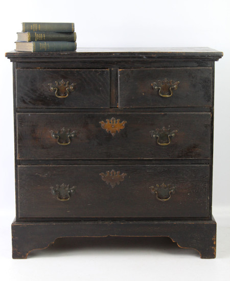 Edwardian Ebonised Oak Chest of Drawers