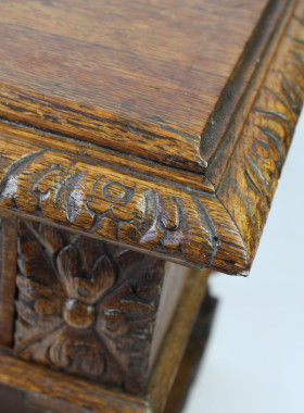 Victorian Gothic Oak Stand