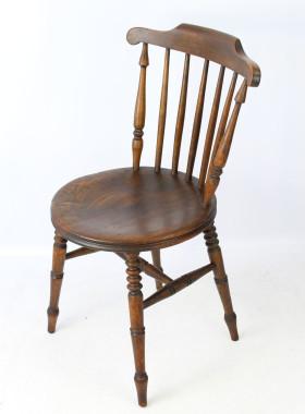 Antique Harlequin Set 6 Ibex Kitchen Chairs