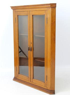 Edwardian Walnut Corner Cabinet