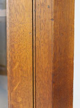 Victorian Oak Corner Cabinet