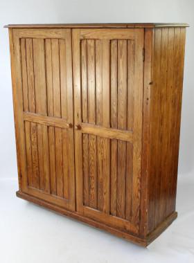 Victorian Pitch Pine School Cupboard