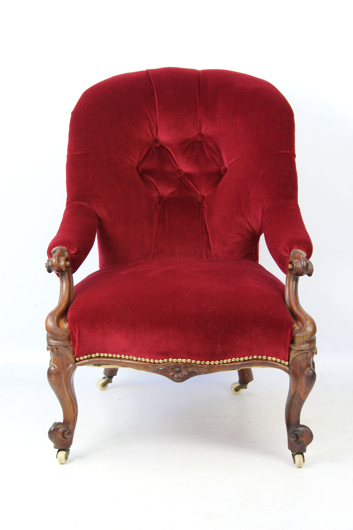 small victorian rosewood button back armchair. Black Bedroom Furniture Sets. Home Design Ideas