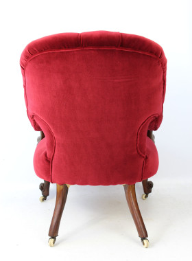 Victorian Rosewood Button Back Armchair