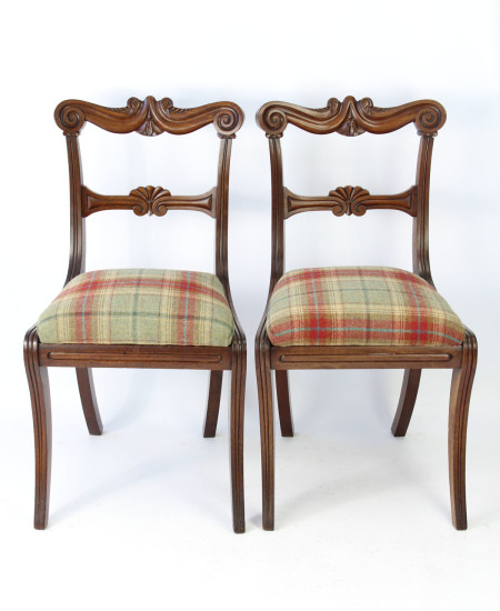 Pair William IV Mahogany Chairs