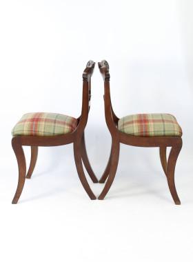 Pair William IV Mahogany Chairs