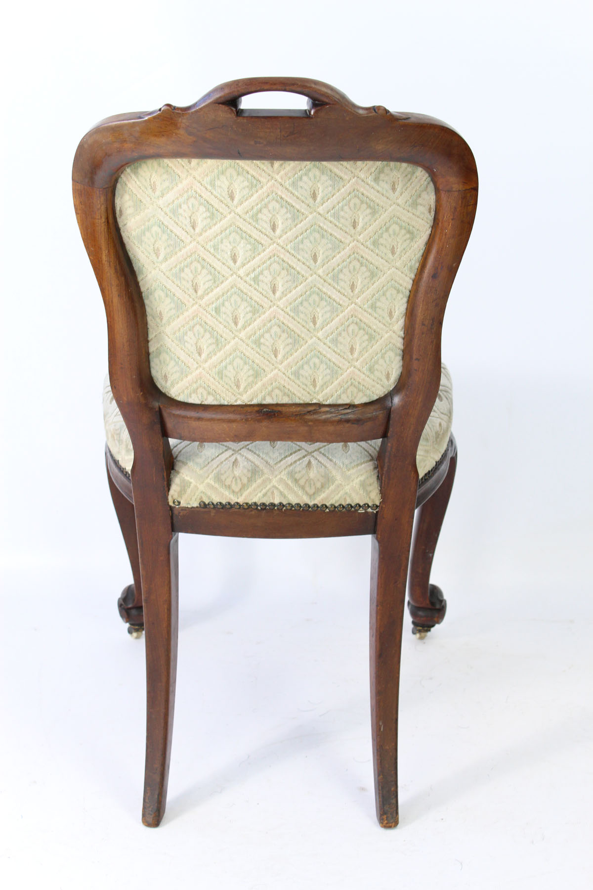 Set 4 Victorian Balloon Back Chairs For Reupholstery