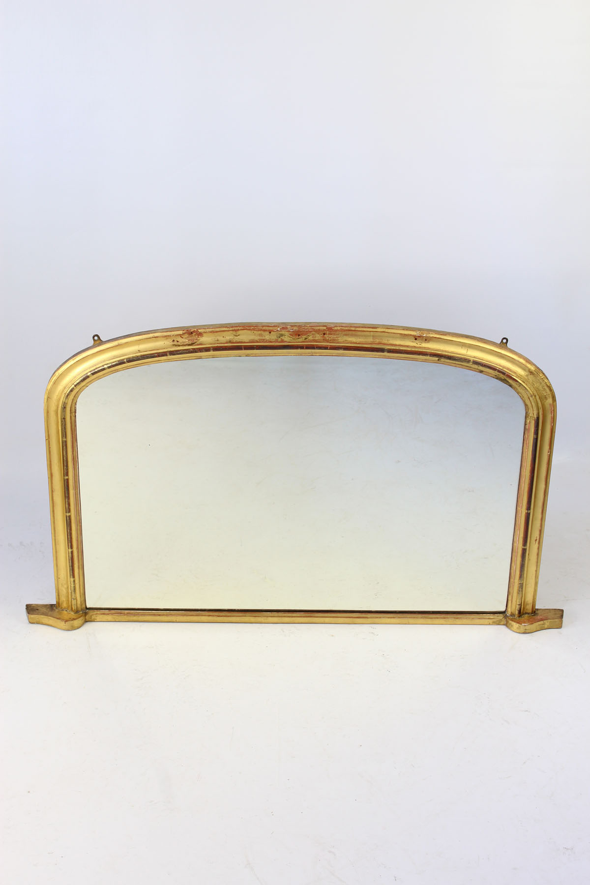 Victorian Arched Top Gilt Overmantle Mirror