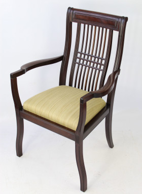 Pair Edwardian Mahogany Arts & Crafts Armchairs