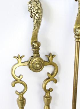 Set Brass Fire Irons
