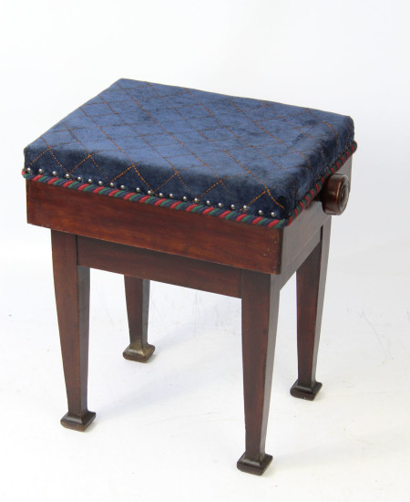 Edwardian Rise and Fall Piano Stool