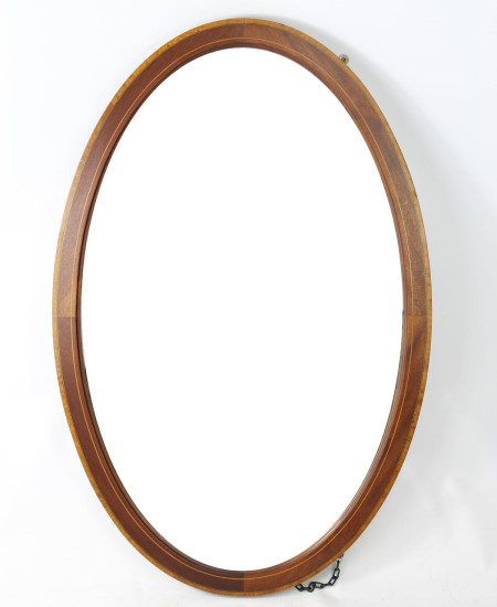 Large Edwardian Mahogany Inlaid Mirror