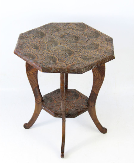 Liberty and Co Japanese Carved Table