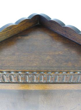 Standing Oak Corner Cupboard