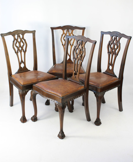 Set 4 Chippendale Dining Chairs