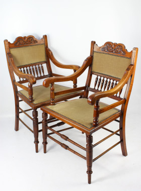 Pair Arts and Crafts Armchairs