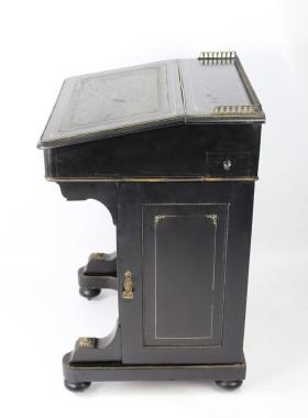 Victorian Ebonised Davenport