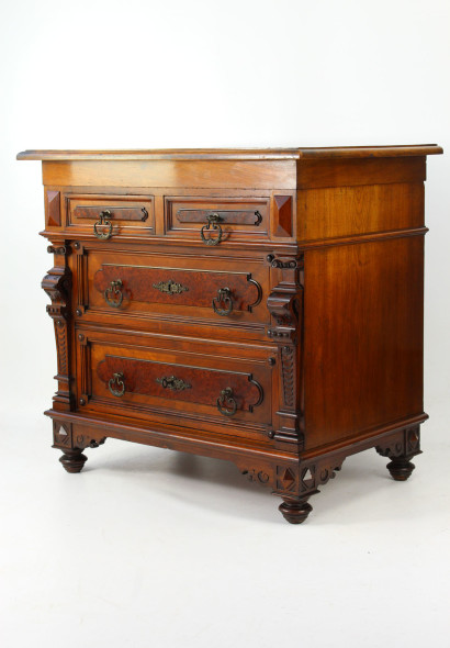 Antique Walnut Chest of Drawers